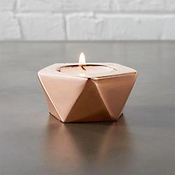 gami rose gold tea light candle holder