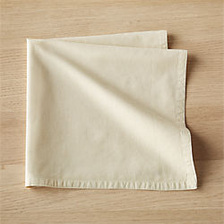 garment washed cream napkin