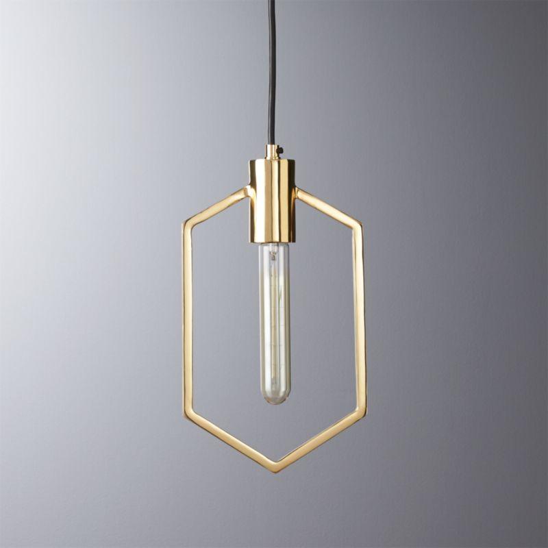 geometric brass pendant light cb2 cb2 swing arm brass wall