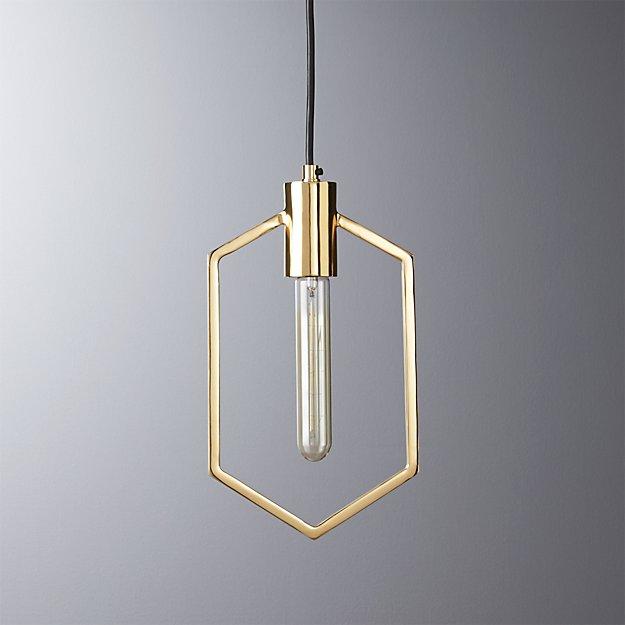 Geometric Brass Pendant Light