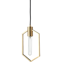 geometric brass pendant light