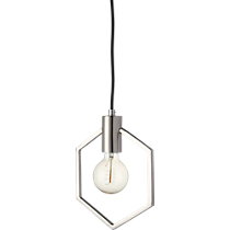 geometric silver pendant light