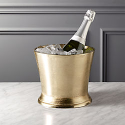 gilded gold ice bucket-wine chiller