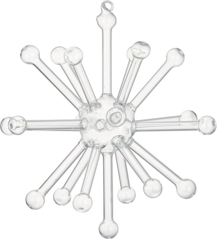 glass sputnik clear large ornament