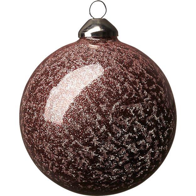 copper glitter ball ornament