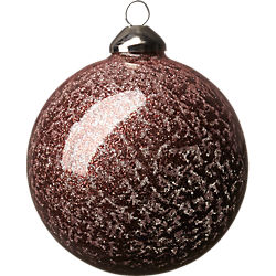 glitter ball copper ornament