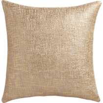 "glitterati gold 18"" pillow"