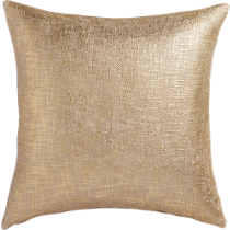"glitterati gold 23"" pillow"