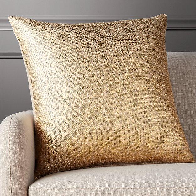 "glitterati gold 23"" pillow"