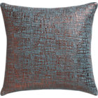 "glitterati slate 16"" pillow with down-alternative insert."