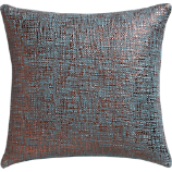 "glitterati slate 16"" pillow with down-alternative insert"