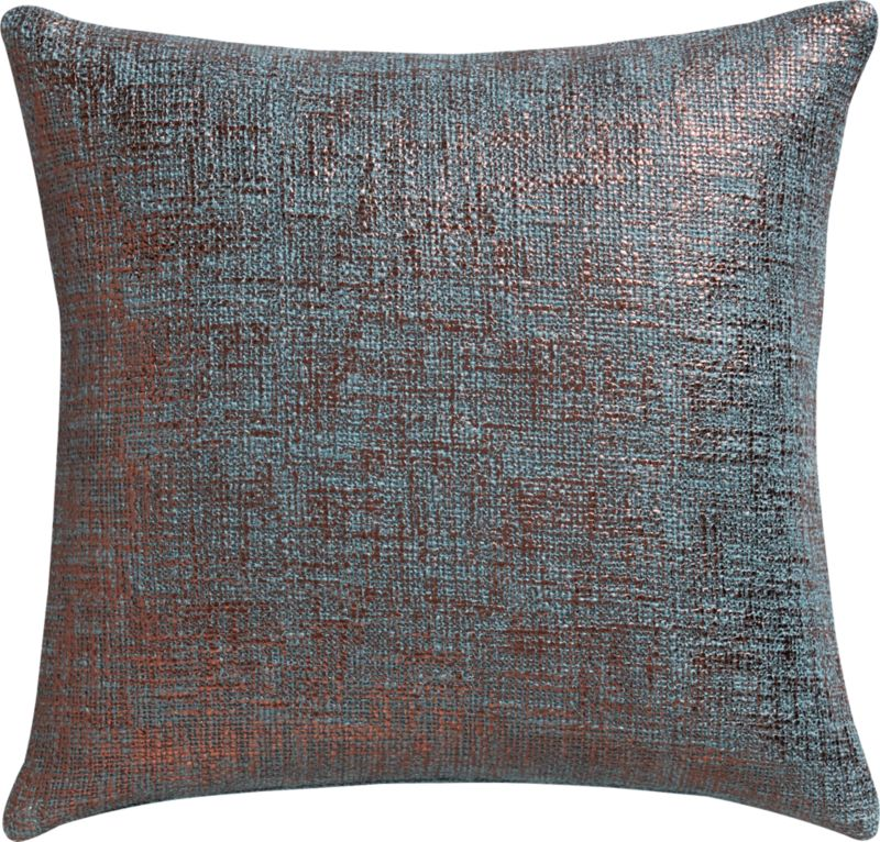 "glitterati slate 16"" pillow with feather insert"