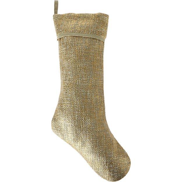 glitterati gold stocking
