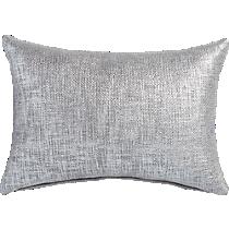 "glitterati silver 18""x12'' pillow"