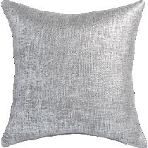 """glitterati silver 20"""" pillow"""