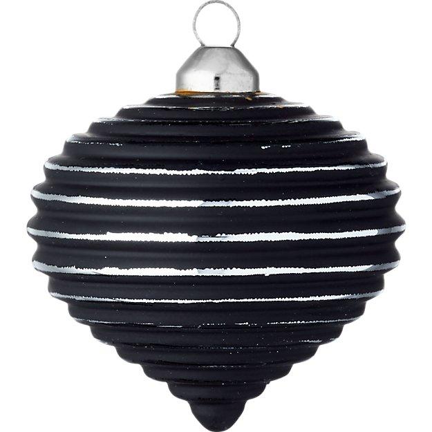 glow matte black onion ornament