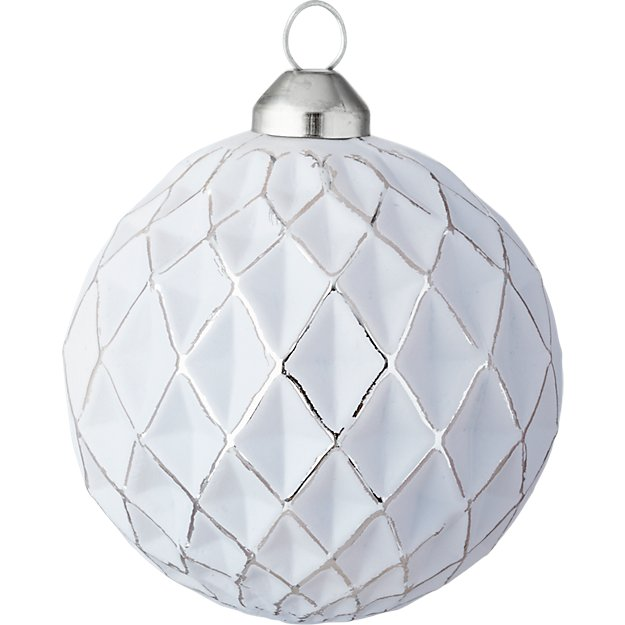glow matte gray ball ornament