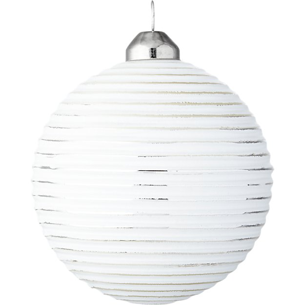 glow white ball ornament