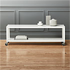 go-cart white rolling tv stand/coffee table.