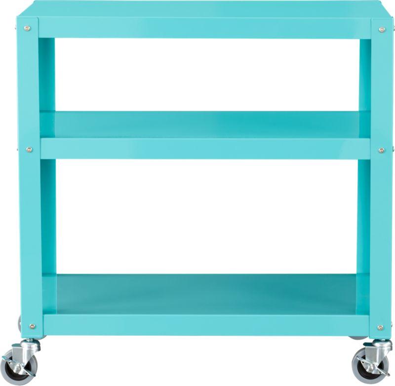go-cart aqua three-shelf table