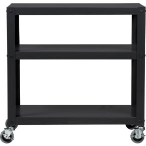 go-cart carbon grey three-shelf table