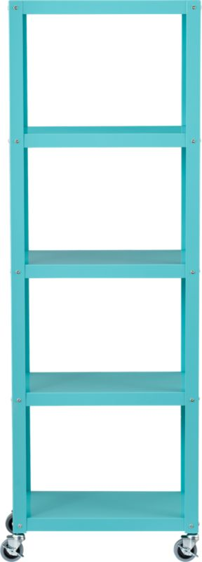 go-cart aqua five-shelf bookcase
