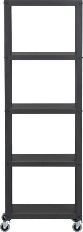 go-cart carbon grey five-shelf bookcase