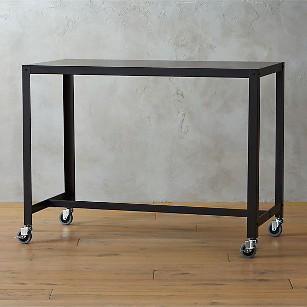 Go cart Carbon Rolling Counter Table stand Up Desk CB2