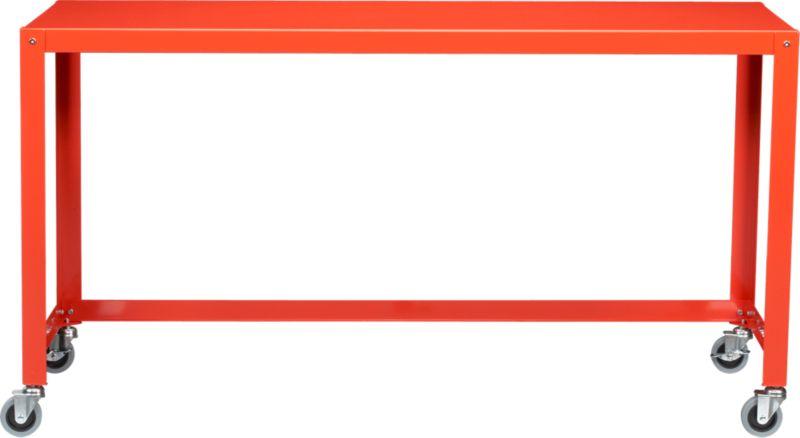 go-cart bright orange console table
