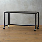 go-cart carbon rolling console table.