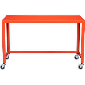 go-cart bright orange desk