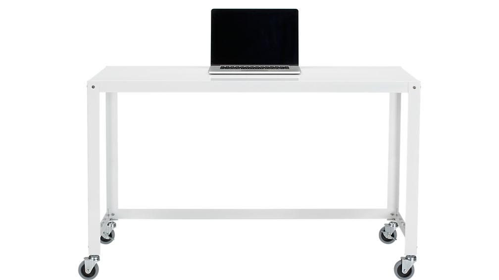 go-cart white rolling desk
