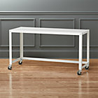 go-cart white rolling desk.