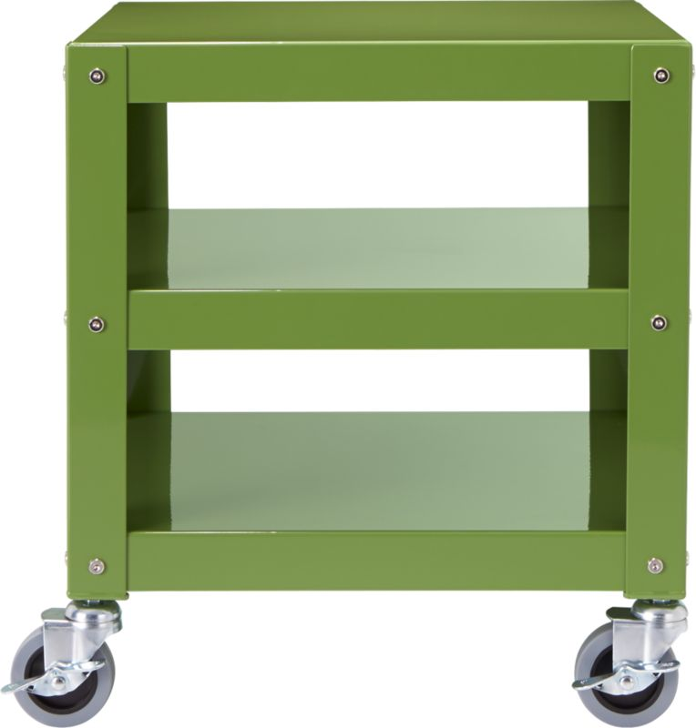 go-cart moss green rolling table