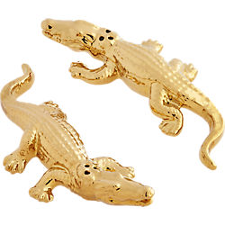 2-piece gold alligator salt and pepper set