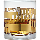 gold bars double old-fashioned glass