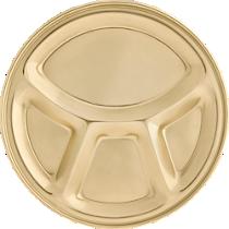 gold divided platter