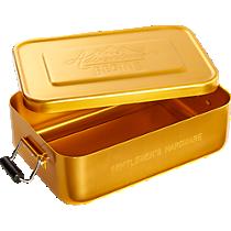 gentlemen's hardware gold lunch tin