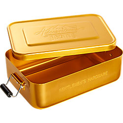 gentlemen's hardware gold lunch tin