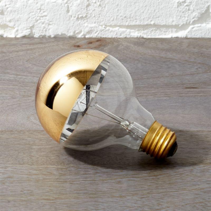 G25 Gold Tipped 40w Light Bulb Cb2