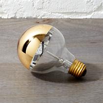 g25 gold tipped 40W light bulb
