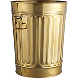 gold wastecan