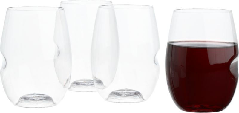 govino stemless wine glasses set of four