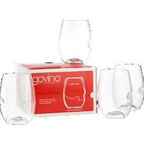 set of 4 govino stemless wine glasses