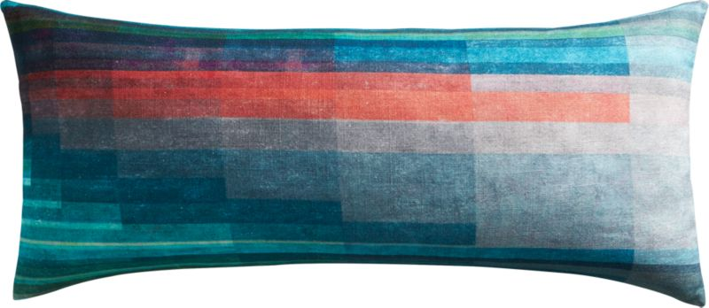 """gradient 36""""x16"""" pillow with feather-down insert"""