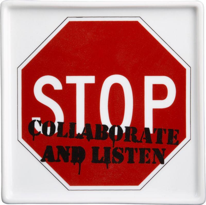 stop graffiti plate