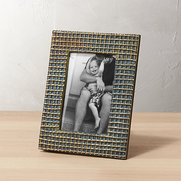 graph burnt brass 4x6 picture frame
