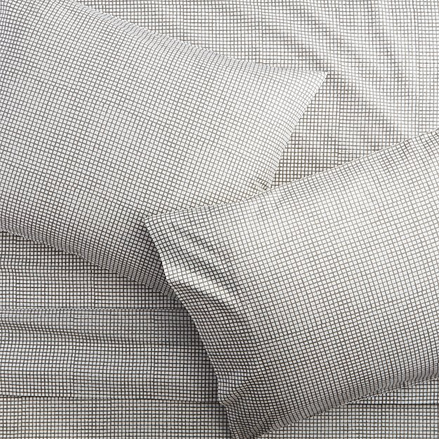 graph percale king sheet set