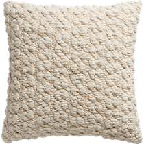 "gravel ivory 18"" pillow"