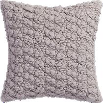 """gravel light grey 18"""" pillow"""
